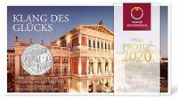 Österreich 5 Euro 2020 Neujahrsmünze Musikverein Wien Silbermünze im Folder