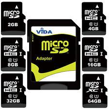 Vida IT® 4GB 8GB 16GB Micro SD SDHC Speicherkarte Für GARMIN Strassennavigation