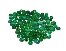Emerald Natural and Cabochon cut gemstones transparent lot 28.73 Carats