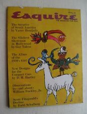 Esquire Magazine Jan 1961 Slickest Showman In Hollywood/ Allure Of The 30's Girl