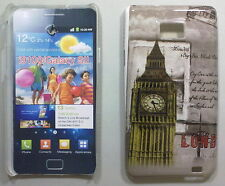 COVER CUSTODIA SAMSUNG GALAXY S II I9100 CARTOLINA LONDON BIG BEN