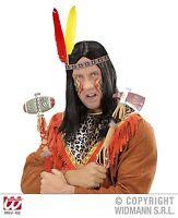 Stirnband mit 2 Federn INDIANER Headband Kopfschmuck Fasching Karneval Kostüm
