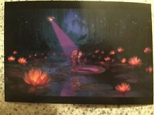 Postcard Unused Disney-The Princess & The Frog- As Frogs At The Lily Pond