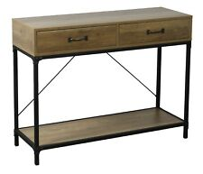 Ehemco Antique Console Table With 2 Drawers And 1 Shelf