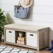 3-Cube Organizer Storage Bench with Multiple Colors - Better Homes and Gardens