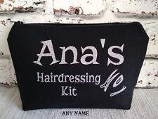 personalised hairdressing bag hair clips ,hair bands ,hair bows storage bag gift