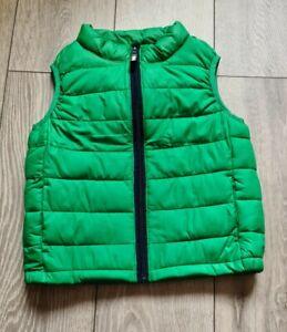 Boys Rebel Green Gilet Bodywarmer Size 7-8 Years
