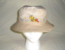 "New ListingWarner Bros.Tweety Bird Embroidered Bucket Hat, Size Approx. 6 3/4"" Diameter Euc"