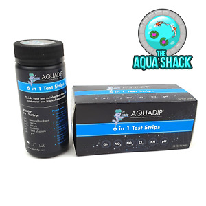 Aquadip 6 in 1 Test Strips - 50 TESTS - Kit for Aquarium Fish Tank Water Nitrate
