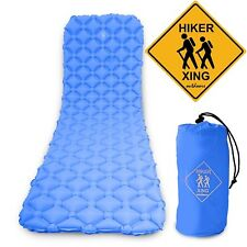 HikerXing LIGHTWEIGHT INFLATABLE SLEEPING PAD for BACKPACKING, CAMPING & HIKING