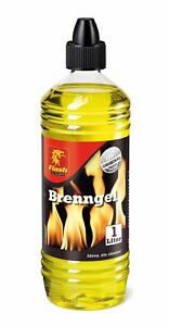 1 Liter Flash Brenngel Brennpaste Bioethanol Anzündpaste für Gelkamine
