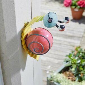 Snazee Snail Medium Cute Bright Decorative Indoor Or Outdoor Garden Wall Art