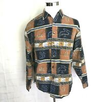 The Territory Ahead Mens Long Sleeve Shirt Lg Large Southwest Aztec Button Up