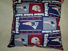 "15.5""x15.5"" Handmade Pillow Made w/Patriots  Cotton Print&Solid Red Back"