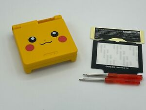 GameBoy Advance SP Replacement Shell Pikachu Special Edition Pokemon USA Seller