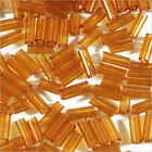 perline rocaille Tubi in vetro Trasparente 4x2mm Marrone 20g