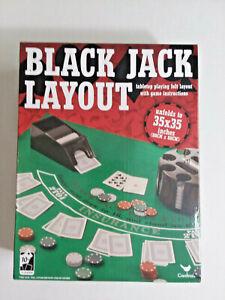Cardinal Black Jack Layout Felt With Instructions Brand New
