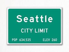 Seattle City Limit Sign Fridge Magnet