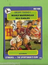 1990 RUGBY LEAGUE CARD #82  GEOFF TOOVEY, MANLY SEA EAGLES