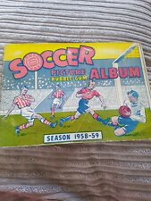 More details for soccer picture bubblegum album season 1958 - 59 football collectors cards
