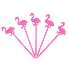 50 Cure-dent flamingo plastique fourche cocktail fête fruit légume amuse-gueule