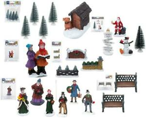 Mini Christmas Village 24 Miniature Figures Build Your Own Christmas Scene