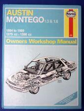 Haynes Owners Workshop Manual Austin Montego 1.3 1.6 1984 -1989 1275 1598 (1712)