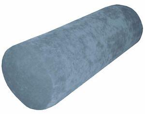 ma10g Aqua Sofa Chenille Velvet Bolster CASE Tube Neck Roll Cushion COVER Size