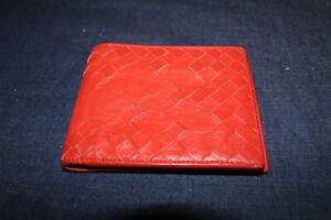 Bottega veneta mens wallet Red Leather Made In Italy