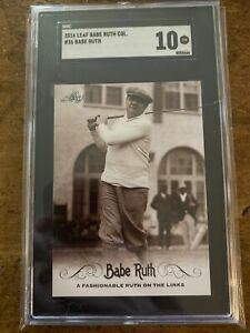 2016 Baseball BABE RUTH SGC 10 Golf Links Card ⛳️ Immaculate GEM MINT⭐️Very Cool