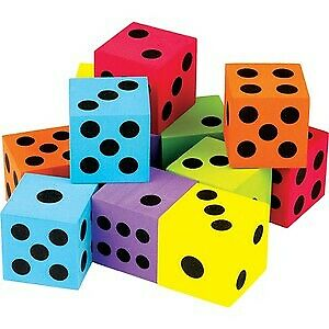 Teacher Created Resources TCR20809 Foam Colorful Large Dice - Pack of 12