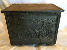 Collectible Vintage Brass/Steel Box Chest With Ann Hathaways Cottage Scene