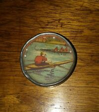 Antique Early 1900's Tin Toy Germany Rowing Advertising Boat Ball Game Rare A+