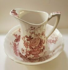 """Beautiful Alfred Meakin """"Charlotte"""" pitcher and bowl set - Excellent Condition"""