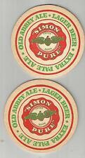 New listing Pair of 1950's Simon Pure Beer & Ale Coasters-Simon Of Buffalo, Ny #008