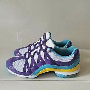 Bloch Boost Dance Sneakers Women's Size 8 SO523L White Purple Blue Yellow