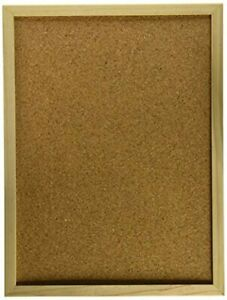 Darice 9172-63 Wood Framed Cork Memo Board with Push Pins 12 by 16 inch