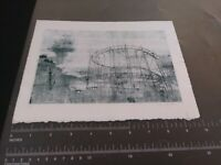 Antique Artist Print Roller Coaster Unique Signed Art Limited Edition 1 Of 1 1/1