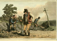 1814 - Costume of Yorkshire -  Stone Breakers  - first edition
