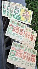16 Full S&H GREEN STAMPS Saver Books 1200 points/ea 10's 50's Sperry Hutchinson