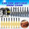 4PCS Car Truck Snow Ice Chain Tire Wheel Anti-skid Belt TPU Strap Emergency
