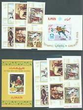 Ajman Hunting Dogs perf,imp + 2 miniature sheets only  listed in sg.appendix MNH