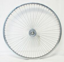"BICYCLE 26"" REAR WHEEL w/68 SPOKES SILVER STEEL COASTER CRUISER LOWRIDER NEW!"