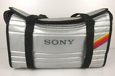 Sony Beta Betamax Video Camera Case Bag Duffel Silver Padded Japan Vtg.