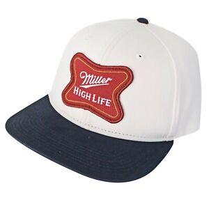 Miller High Life Beer Logo Patch Adjustable Snapback Trucker Cap Baseball Hat