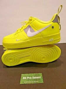 New Nike Air Force 1 '07 LV8 Utility Athletic Shoes Overbranding Sz 11 Volt-Grey