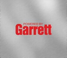 Powered by Garrett Car Performance Decal Sticker turbo honda subaru intercooler