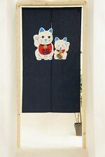 JAPANESE Noren Curtain MANEKI NEKO HAPPY CAT MADE IN JAPAN NEW 85x150cm