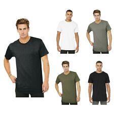 BELLA+CANVAS Men's Long Body Longer Urban Tall Tee Rounded Drop Tail Hem T-Shirt