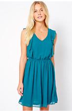 New Look Ladies Ruffle Sleeveless Dress in Teal UK 12/EU 40/US 8